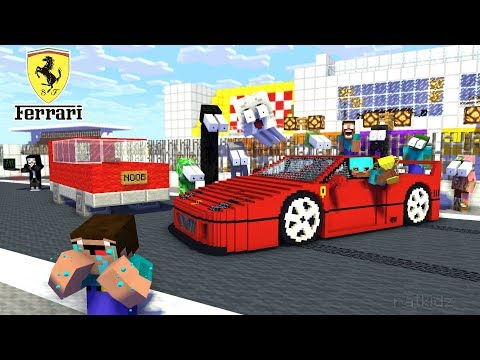Monster School : NOOB vs PRO vs HACKER FERRARI CHALLENGE - Minecraft Animation