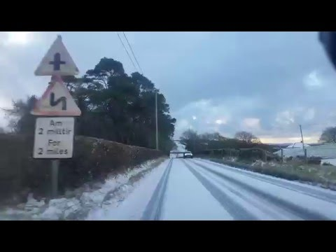 Drive home from Aberystwyth to Tregaron