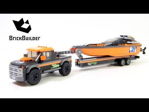 Lego City 60085 4x4 with Powerboat - Lego Speed Build