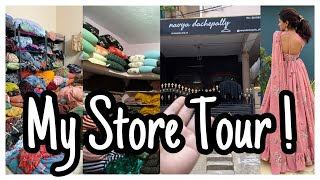 My Store Tour | Place Where We Make Dresses & Store Bulk Fabrics | Fabrics Store | nayalooks