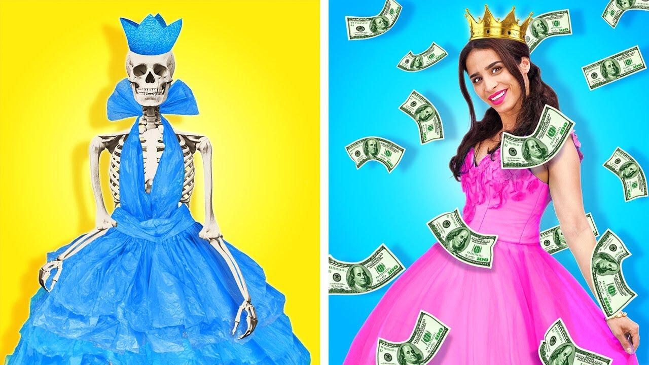 مقارنة مجنونة بين حيل الطالبات الثريات والمفلسات || مواقف مدرسية مضحكة