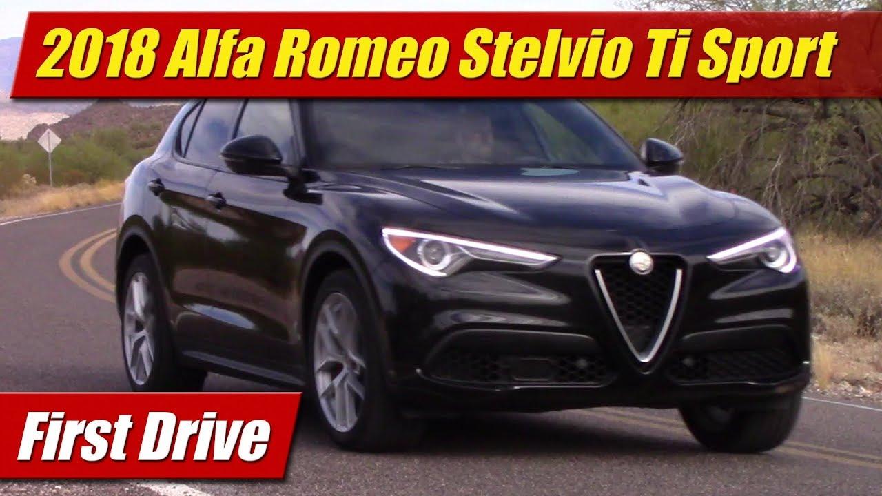 2018 Alfa Romeo Stelvio Ti Sport Awd First Drive Youtube