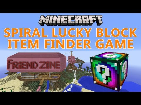 Minecraft: Spiral Lucky Block Item Finder Game / Mini-Game / Custom Map