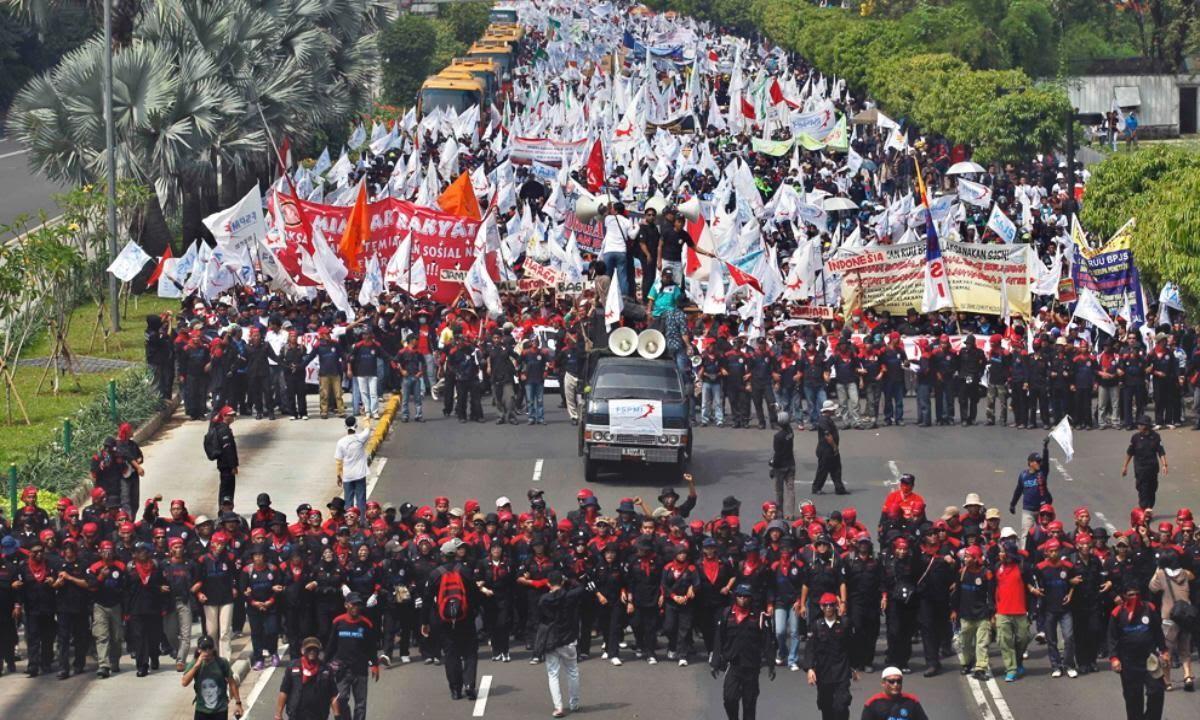 Hari Buruh di Indonesia (Sumber: Youtube.com/Delapan)