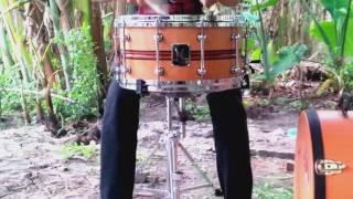 Sound Lab Snare Drum Solid True Wood 14x7 A.L Snare Drum Custom