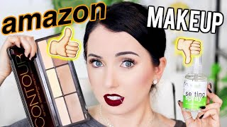 AMAZON MAKEUP TESTED...Makeup UNDER $15 First Impressions!
