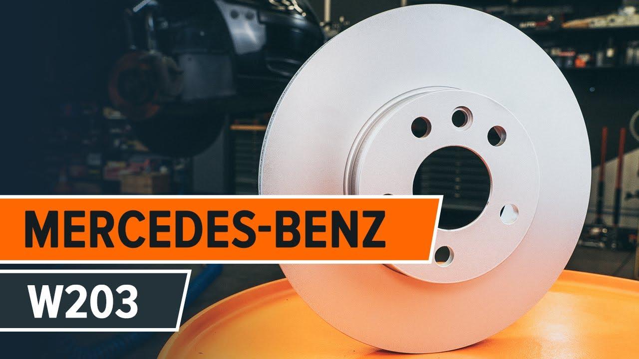 disques de frein et plaquettes de frein changement mercedes benz c w203 tutoriel autodoc. Black Bedroom Furniture Sets. Home Design Ideas