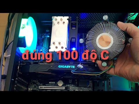 100 độ C cùng FAN Intel Stock lỏi đồng    thay Cooler T400i cho Xeon E-2136 render cho mát tí