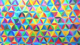How To Color Doodle Flower Of Life Pattern - Speed coloring