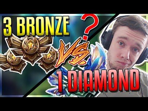 REDMERCY D1 VS 3 BRONZE PLAYERS 1v3 WHO WINS?? - League of Legends
