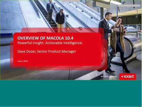 Overview of Macola 10.4