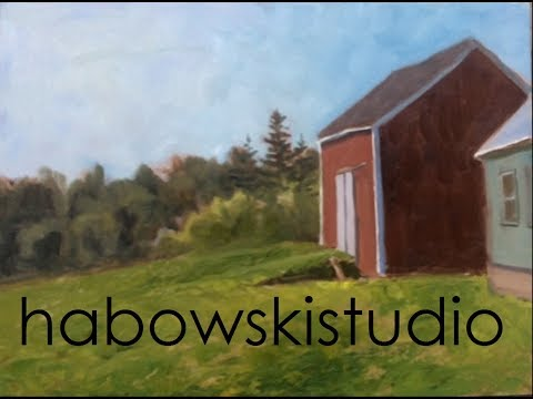 "Plein air demo - ""A Maine Barn"""