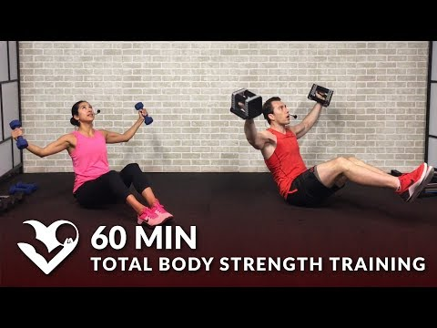 60 Minute Workout for Strength: Total Body Strength Training for Women & Men with Weights at Home