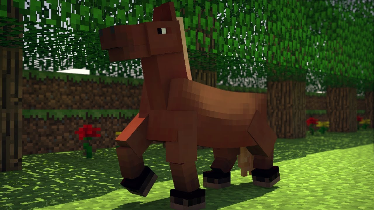 The Funky Horse 1 Hour Version Minecraft Animation Youtube
