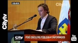 Citytv: Nicolás Gaviria pidió disculpas públicas a uniformados