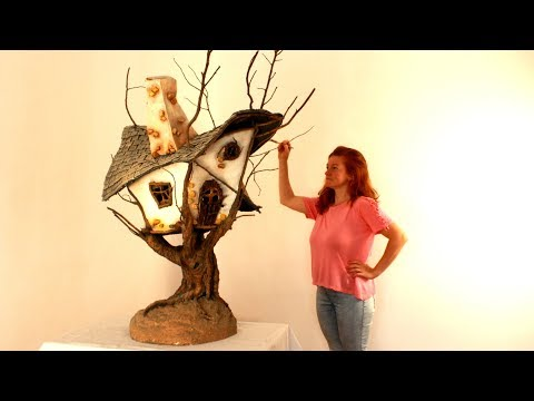 ❣AWESOME DIY Faux Wood Fairy Tree House❣