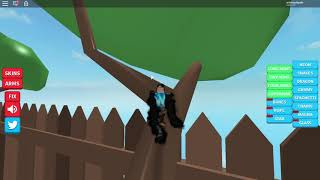 Playing Roblox, that very crazy arms