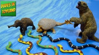 Safari Ltd animals Woolly Mammoth baby Doedicurus Giant Sloth prehistoric beasts toy videos for kids