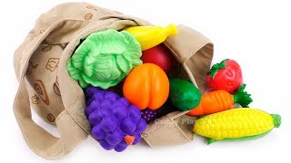 Learn Names Fruits and Vegetables for Kids from Magic Bag | Learning Video with Toys for Children