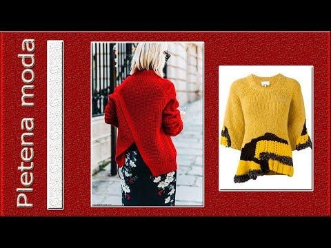 Pletena Moda/Вязаная одежда со скошенными деталями.( Crochet)