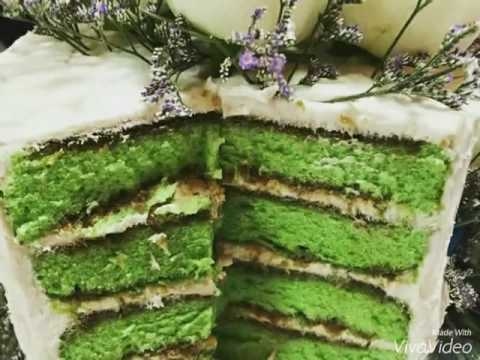 Onde Onde Cakes Pgm Pandan Gula Melaka Cake Youtube