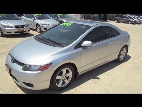 2008 HONDA CIVIC 2door Start Up Walk Around Tour by Automotive ...