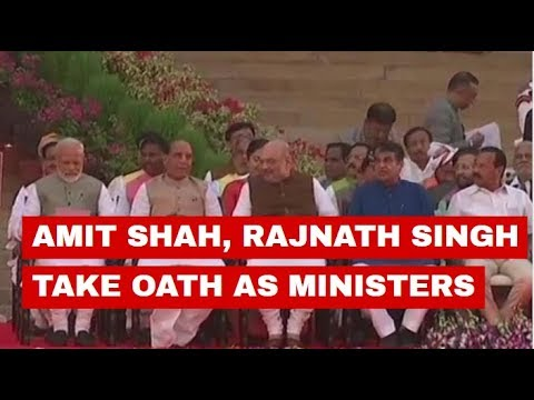 Watch: BJP chief Amit Shah and Rajnath Singh take oath as cabinet ministers