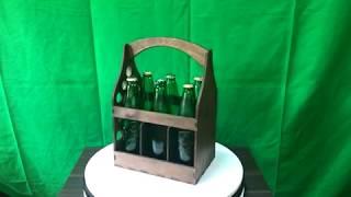 """Деревянный ящик для пива """"Big beer box"""" на 6 бутылок + копилка для крышек обзор"""