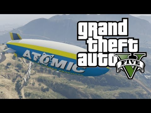 GTA V - How To Fly the Atomic Blimp in...