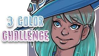 3 COLOR CHALLENGE - Digital Art Illustration - REVIEW: Gaomon PD1560 Pen Display Tablet