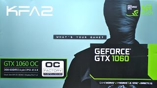 unboxing KFA2 GeForce GTX 1060 3GB OC (Factory Overclocked)