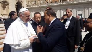 بالفيديو والصور.. بابا الفاتيكان: سنصلي من أجل «السيسي» لنصره على الإرهاب