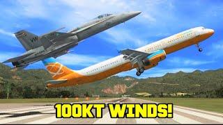 Flight Simulator X: PILOTS vs. 100 KNOT CROSSWINDS (Multiplayer Chaos)