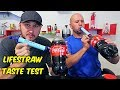 Drinking Coke with LifeStraw Taste Test