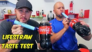 Drinking Coke with LifeStraw Taste Test by Taras Kul
