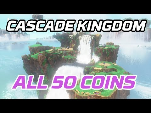 [Super Mario Odyssey] All Cascade Kingdom Coins (50 Purple Local Coins)