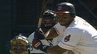 KC@CLE: Belle crushes his 50th home run of 1995