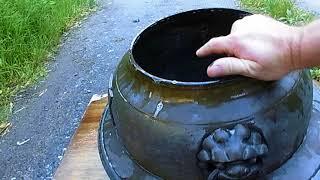 Japanese Buddhist Tea Ceremony Pot     (Cleaning it)