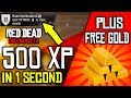 THIS ONE SECRET WILL LEVEL YOU FAST in Red Dead Online! EASY RANK UP in RDR2 Online FREE GOLD BAR