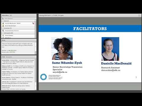 "NCCDH Webinar: ""Racing"" the social determinants of health and health equity (Part 2 of 2) (2017)"