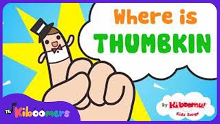 Where is Thumbkin? | Fingerplays for Infants and Toddlers | Nursery Rhyme | The Kiboomers
