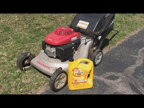 Changing Oil On 21 Inch Honda Push Mower | Cleaning Mower Deck