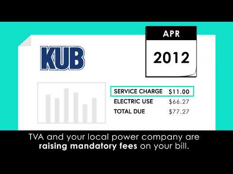 TVA and Local Power Companies Raising Mandatory Fees