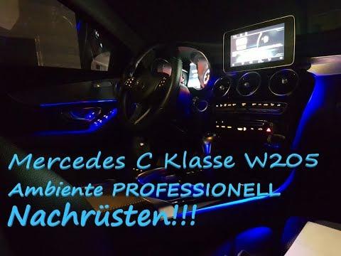 Mercedes W205 Ambiente Beleuchtung PROFESSIONELL Nachrüsten By Ledov