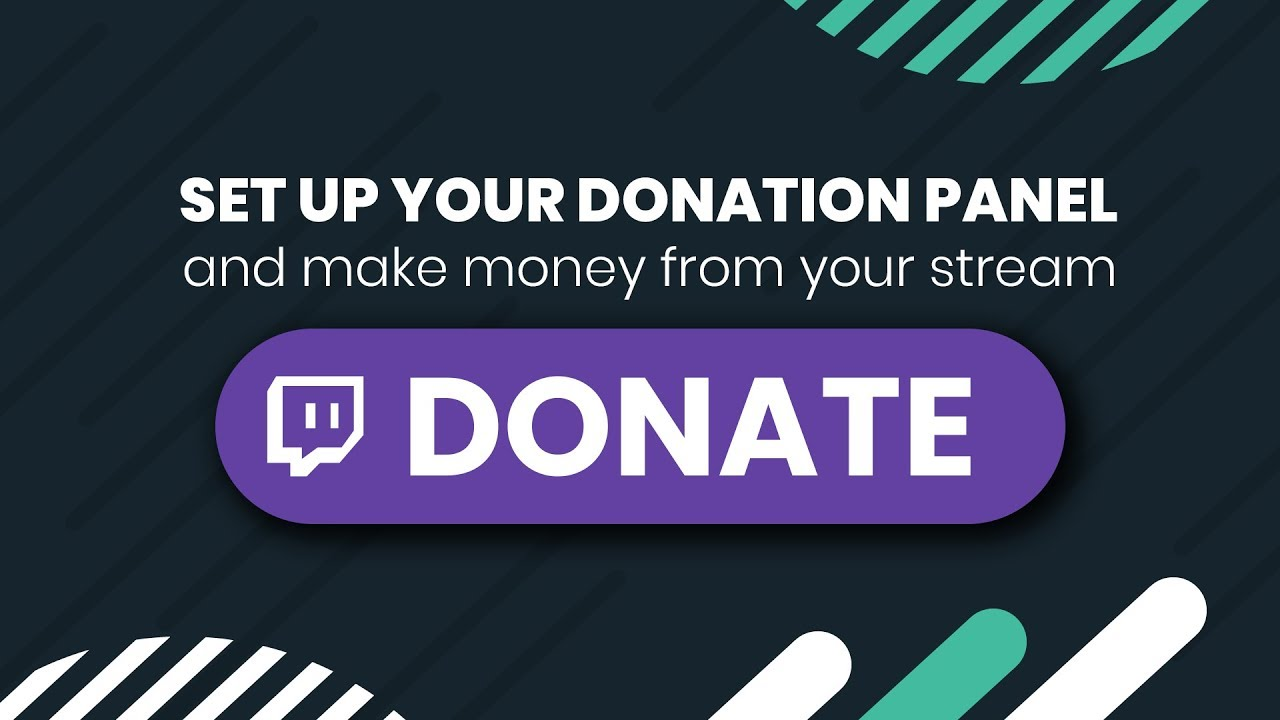 Monetize your stream with a donation Twitch panel! - YouTube