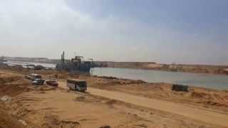 In a scene of the Suez Canal January 29 central sector