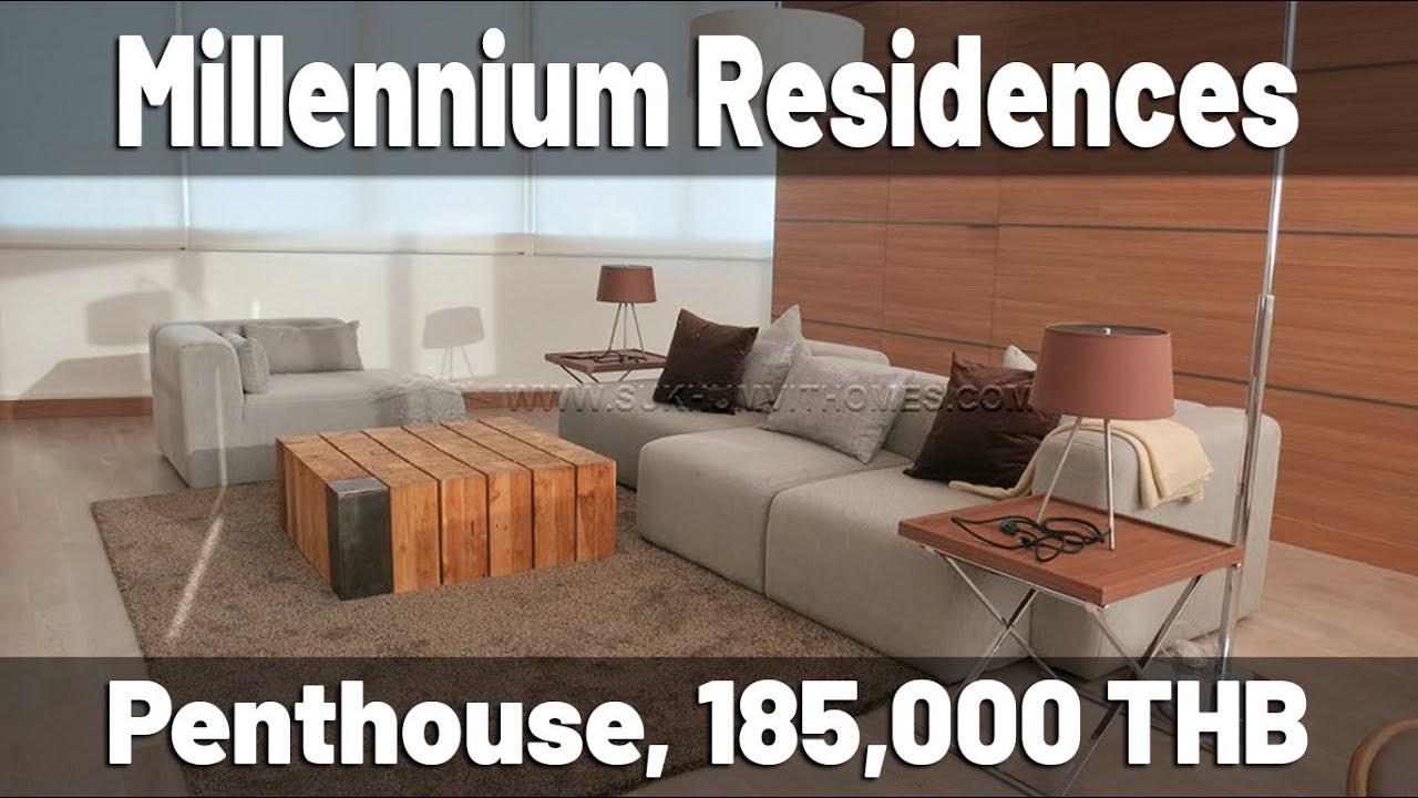 1 Bedroom At Millennuim Residence Sukhumvit Millennium Residences Duplex Penthouse For Rent 185000 Thb 245