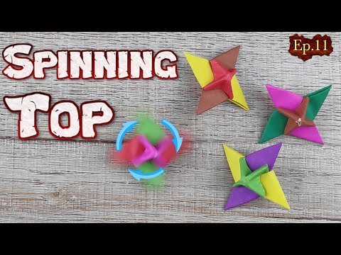 Origami Incredible Spinning | How To Make A Paper Spinning Top Tutorial | DIY Spinning Swirl Ep.11