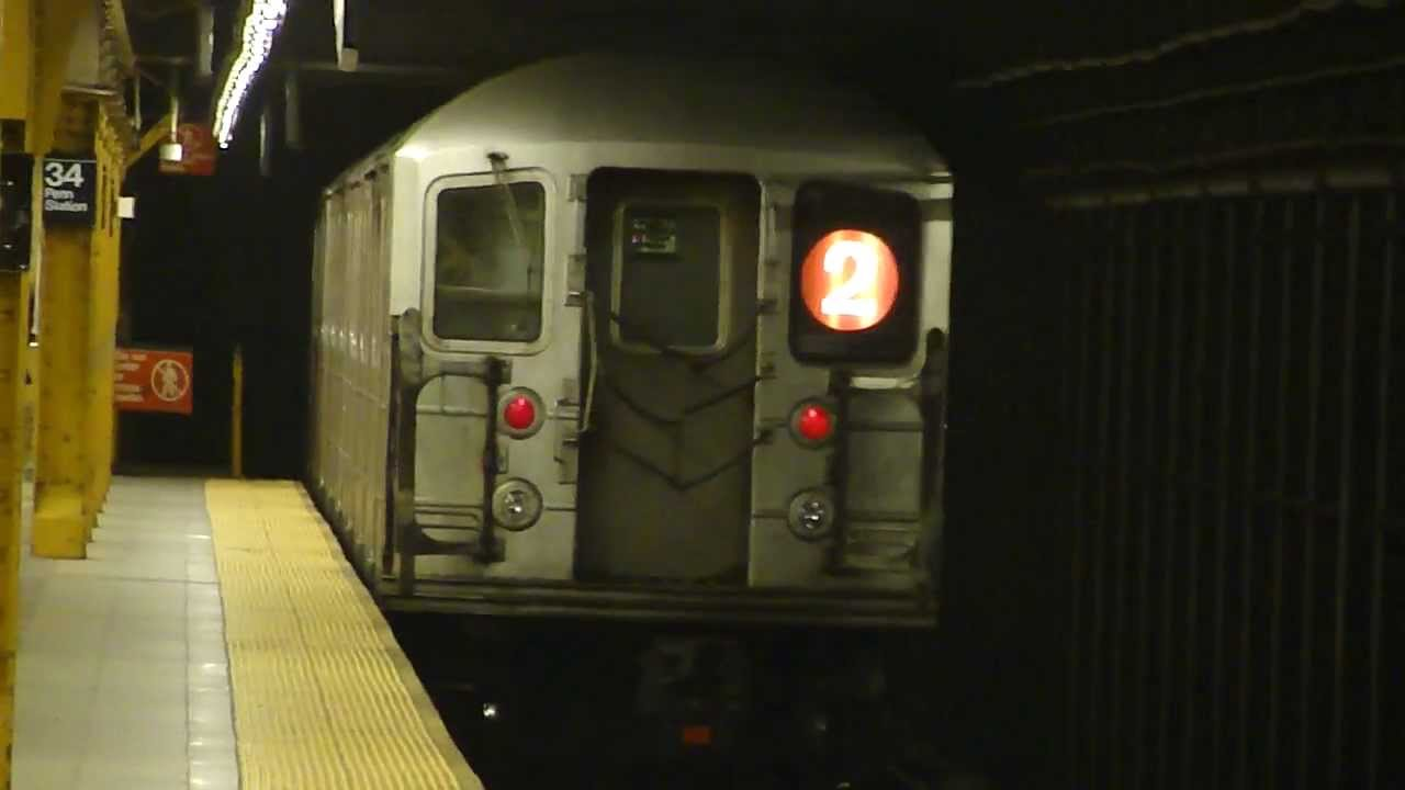 Irt 7th Ave Line R62a 2 Train At 34th St Penn Station Madison Square Garden Weekend Youtube