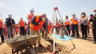 Obras por Impuestos: Se colocó la primera piedra del proyecto de agua y alcantarillado en Huarmey